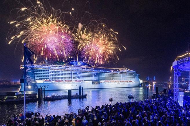 С грандиозна церемония пуснаха на вода круизния кораб MSC Grandiosa
