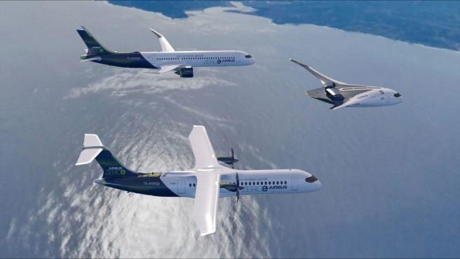 Airbus обяви, че работи върху проекти на самолети, задвижвани с водород