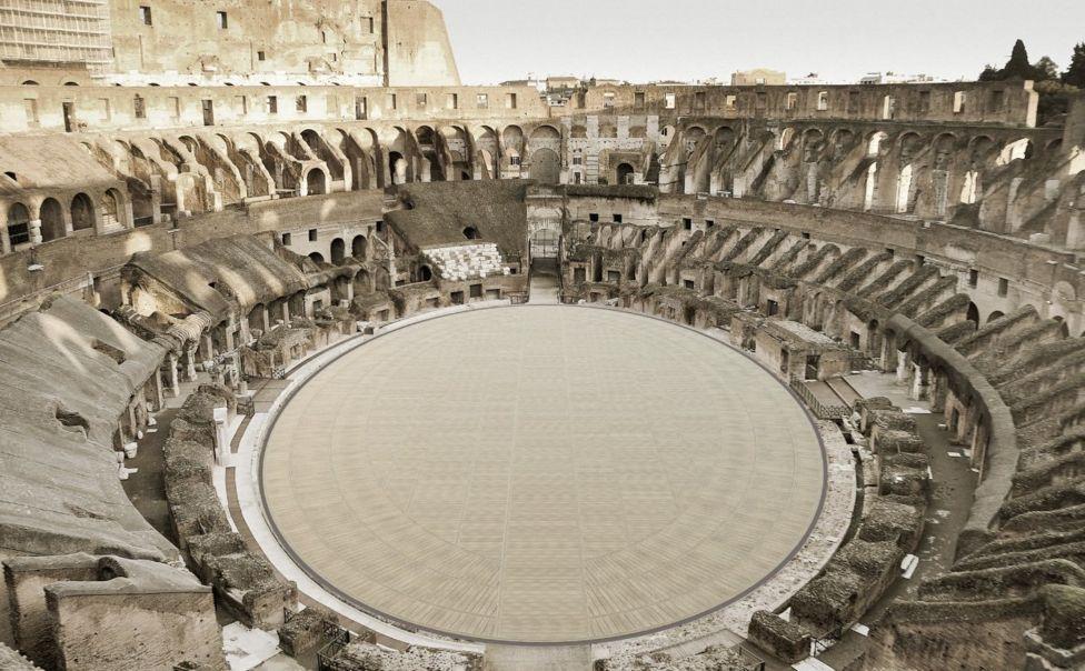 Добавят нов етаж на Колизеума с гледката на гладиатора