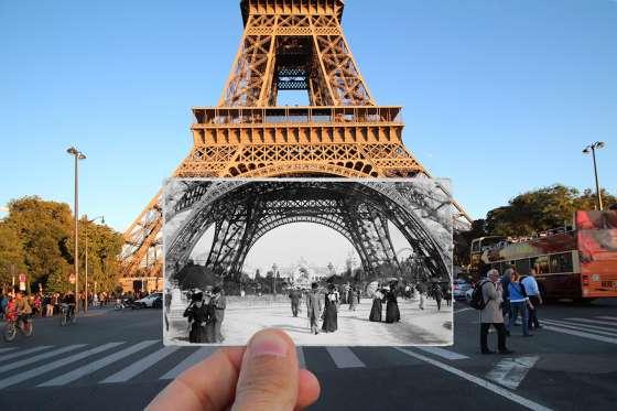Тогава и сега: снимки от Париж през 1900 г. и днес