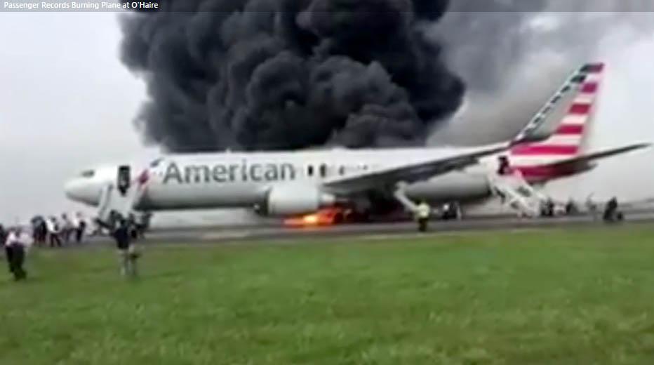 Самолет получи повреда в двигателя и се запали секунди преди да излети