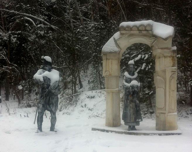 След първият сняг в Родопите