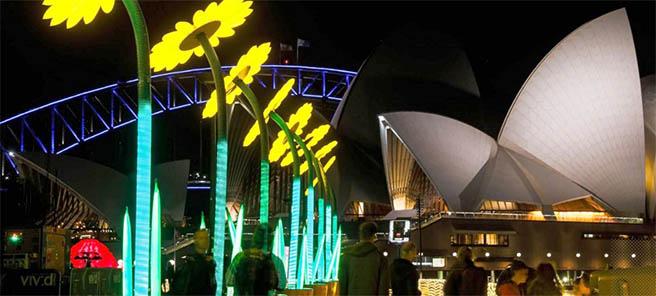 В Сидни се провежда Фестивал на светлината и звука