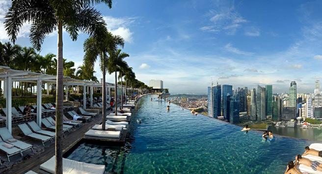 Най-забележителните хотелски басейни с гледка