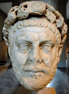 Гай Аврелий Валерий Диоклециан управлява Рим от 284 г. до 305 г. - Излагат стенопис на Диоклециан в Луксор