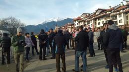 Хотелиери и собственици на транспортни фирми протестират в Банско